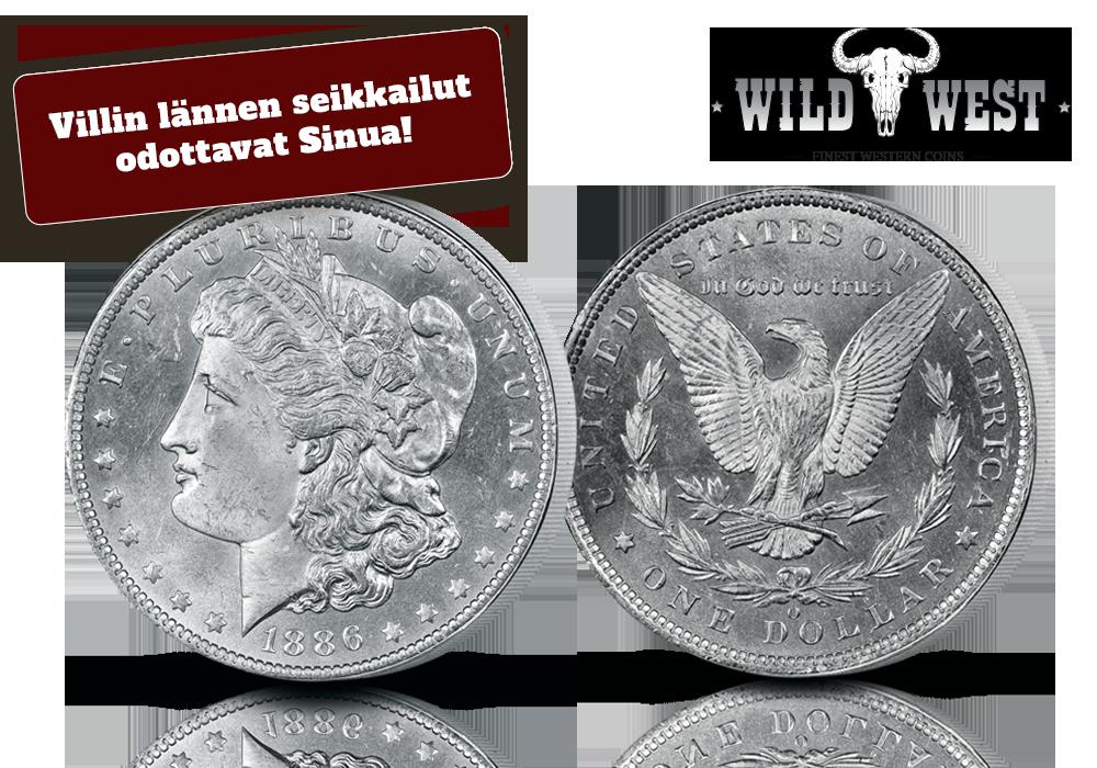 Morgan dollar on suuri 90 % hopeaa oleva käyttöraha Villin lännen ajalta