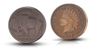 Wild West -kokoelma: Indian Head & Buffalo Nickel